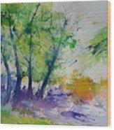 Watercolor Spring 2016 Wood Print