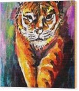 Watercolor Tiger Wood Print