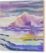 Watercolor - Winter Arctic Impression Wood Print
