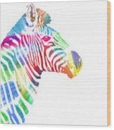 Watercolor Zebra Wood Print
