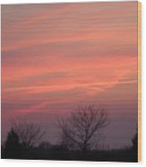 Watercolors In The Sky Wood Print