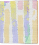 Watercolour Abstract Strips 2 Wood Print