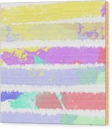 Watercolour Abstract Strips Wood Print
