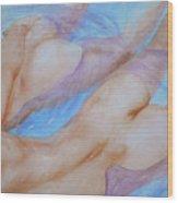 Watercolour Painting Gay Interest Men In Swimming Pool #16-12-21 Wood Print