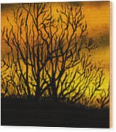 Watercolour Sunset Wood Print