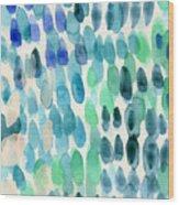 Waterfall 2- Abstract Art By Linda Woods Wood Print