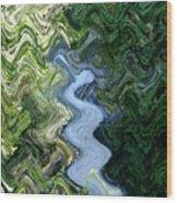 Waterfall Abstract Wood Print