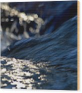 Waterfall At Dawn  Wood Print