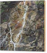 Waterfall At Lake Willoughby  Wood Print