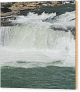 Waterfall At Ohiopyle State Park Wood Print