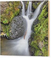 Waterfall Atop Wolf Creek Pass - Colorado - Nature Wood Print