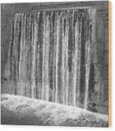 Waterfall Backdrop Wood Print