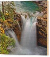 Waterfall Canyon Wood Print