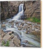 Boulder Falls Wood Print