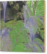 Waterfall Details Wood Print