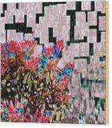 Waterfall Flowers 2 Wood Print