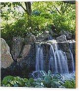 Waterfall Garden Wood Print