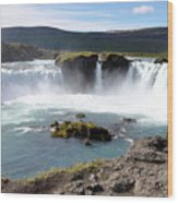 Waterfall - Godafoss Wood Print