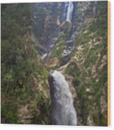 Waterfall Highlands Of Guatemala 1 Wood Print