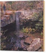 Waterfall In Fall - 1 Wood Print