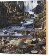Waterfall In Kent Wood Print