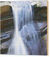 Waterfall In Nh Wood Print