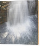 Waterfall In Nh Splash 3 Wood Print