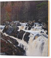 Waterfall In Scotland Wood Print