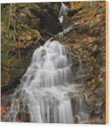 Waterfall In Smugglers Notch Wood Print