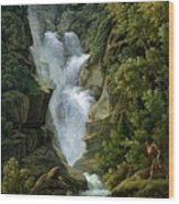 Waterfall In The Bern Highlands Wood Print
