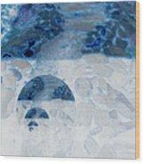Waterfall In The Moon Wood Print