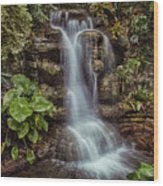 Waterfall In The Opryland Hotel Wood Print