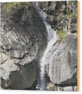 Waterfall Into The Feather River Wood Print