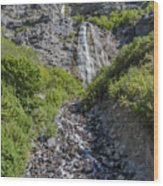 Waterfall Love Wood Print