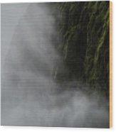 Waterfall Mist Wood Print