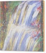 Waterfall Of El Dorado Wood Print