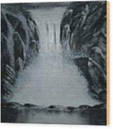 Waterfall Of Life Wood Print