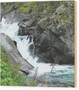 Waterfall Of Paradise Wood Print