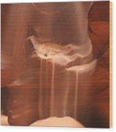 Waterfall Of Sand Wood Print