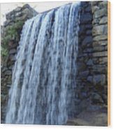 Waterfall Of The Grist Mill Wood Print