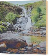 Waterfall On Skye 2 Wood Print