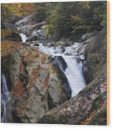 Waterfall On West Fork French Broad River Wood Print