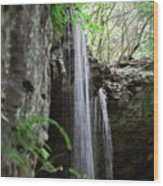 Waterfall Portrait Wood Print