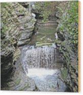 Waterfall Rocks Foliage Pond 2 9132017 Wood Print