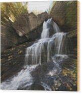 Maine Waterfall Wood Print