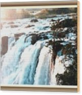 Waterfall Scene For Mia Parker - Sutcliffe L A S With Decorative Ornate Printed Frame.  Wood Print
