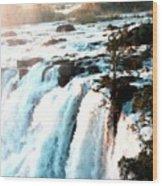 Waterfall Scene For Mia Parker - Sutcliffe L B Wood Print