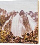 Waterfall Scenics  Wood Print