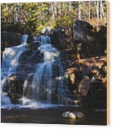 Waterfall, Whitewall Brook Wood Print