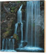 Waterfalls Wood Print by Clayton Bruster